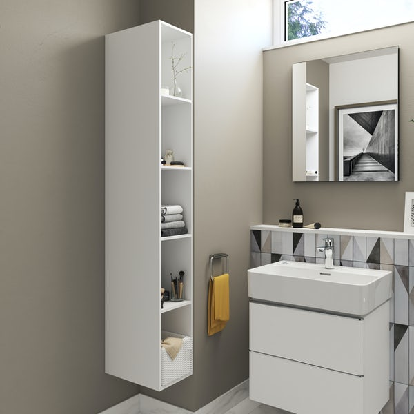 Ideal Standard Strada II white tall storage unit