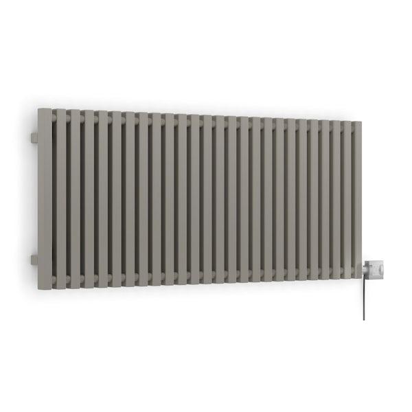 Terma Triga E metallic stone electric radiator with KTX 4 Blue element - silver