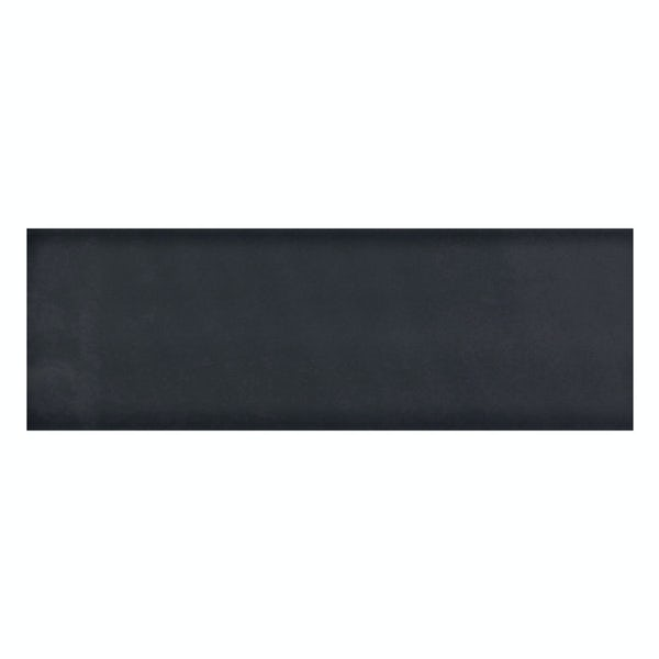 Zenith black flat gloss wall tile 100mm x 300mm