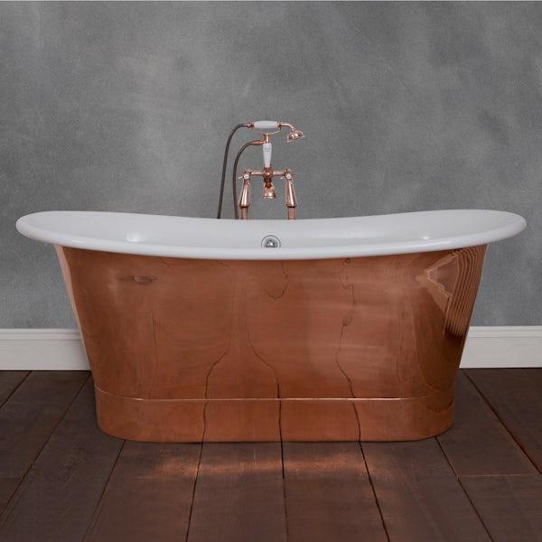 Belle de Louvain Rembrandt copper and enamel bath | VictoriaPlum.com