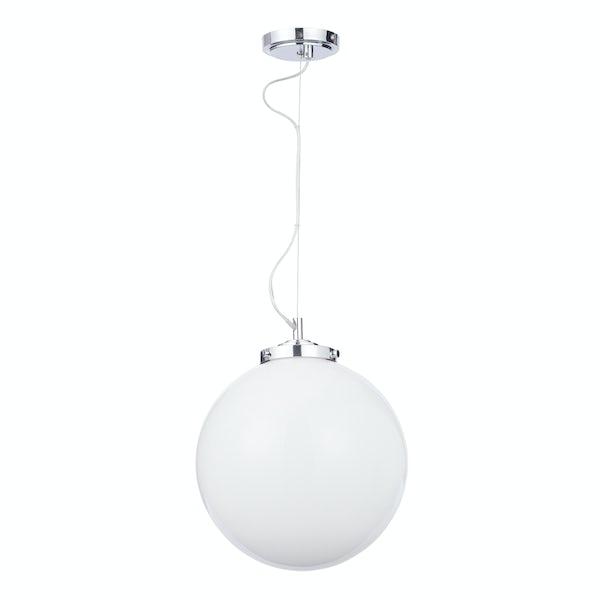 Forum Luna 1 light pendant bathroom ceiling light