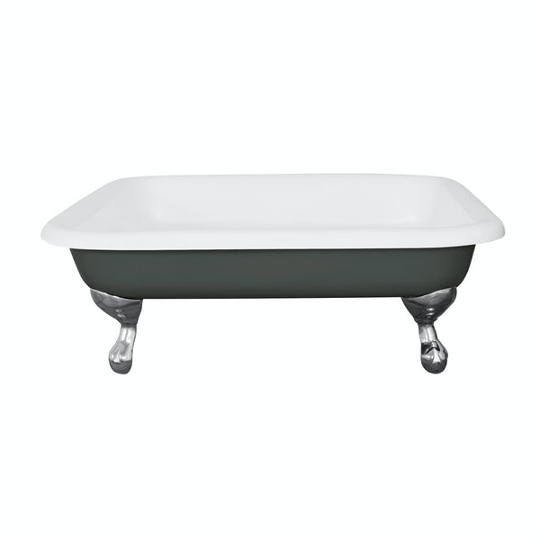 The Bath Co. Lewes smoke grey cast iron shower tray