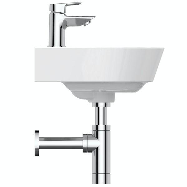 Ideal Standard Concept Air Arc 1  tap hole wall hung bathroom basin 400mm