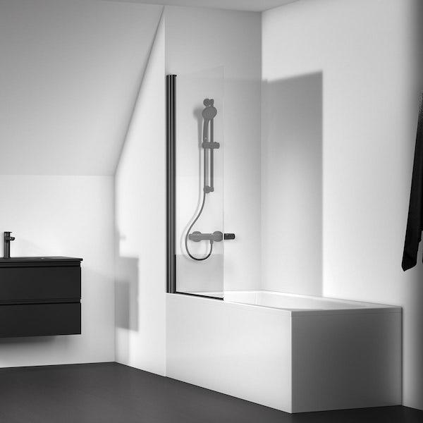 Ideal Standard silk black Connect 2 angle bath screen
