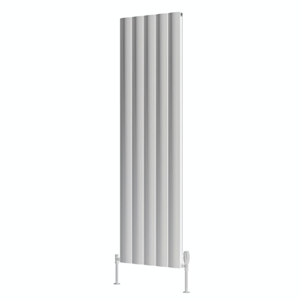 Reina Belva white double vertical aluminium designer radiator