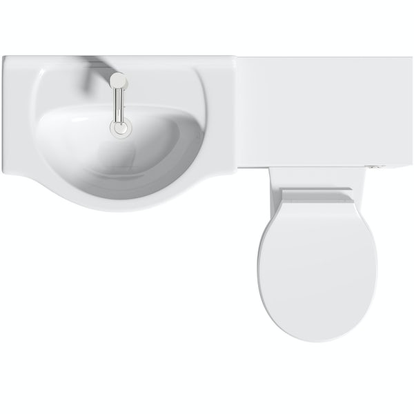 Orchard Elsdon white 1155mm combination with Clarity back to wall toilet and seat