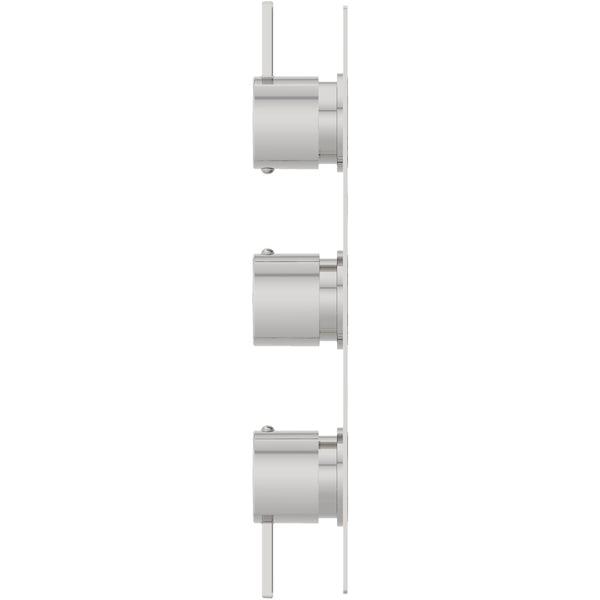 Mode Burton soft square triple thermostatic shower valve with diverter