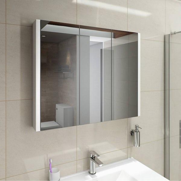 Odessa White 3 Door Bathroom Mirror