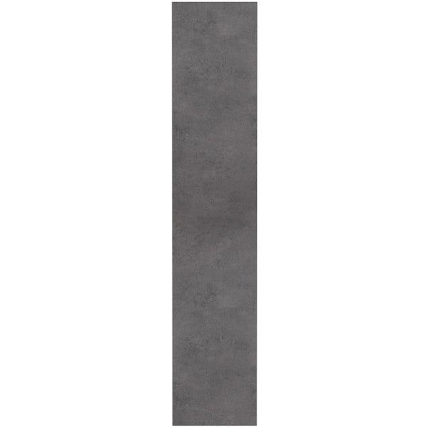 Mode Tate II riven grey mirror cabinet 650 x 650mm