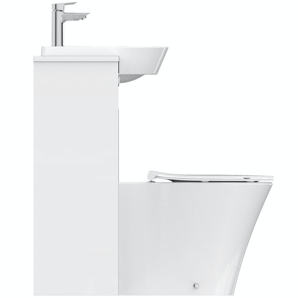 Ideal Standard Concept Air white gloss 1200 combination unit with toilet and soft close seat