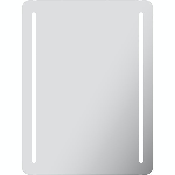 Mode Caylen rectangular LED mirror with demister