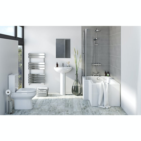 Bristan and Orchard complete right handed shower bath suite 1500 x 850