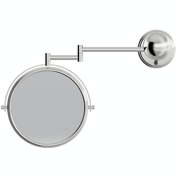 Accents round contemporary hinged cosmetic mirror