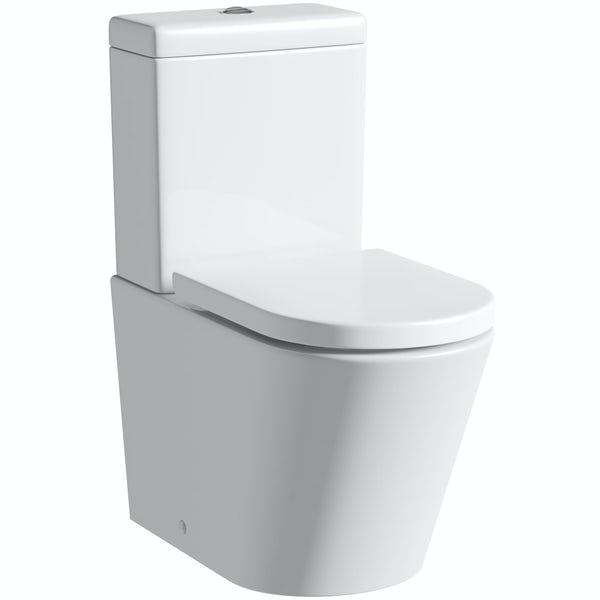Mode Tate rimless close coupled toilet with soft close seat with pan connector