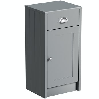 The Bath Co. Dulwich stone grey storage unit 800 x 400mm