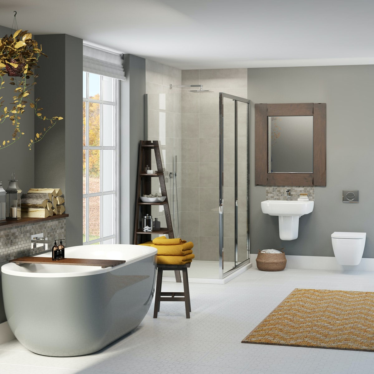The Mode Ellis Storm Bathroom Suite With Shower Enclosure