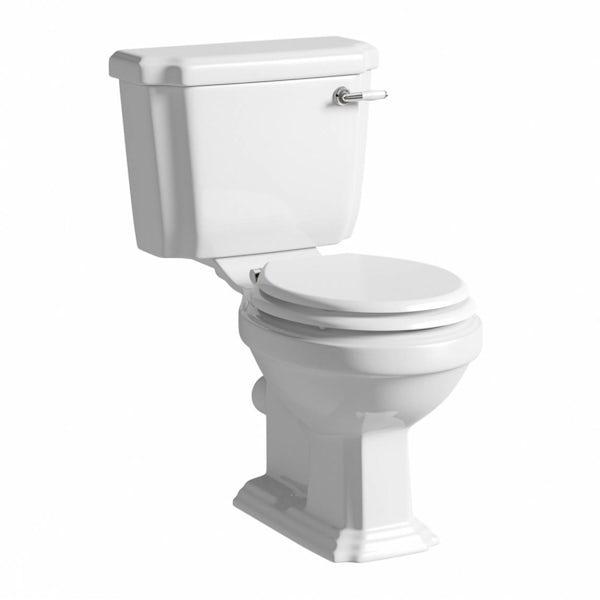 The Bath Co.Dulwichwhite bathroom suite with freestanding shower bath