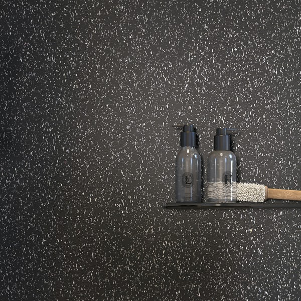 Showerwall Black Galaxy waterproof proclick shower wall panel