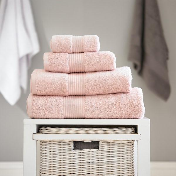 Deyongs Bliss antibacterial 650gsm 6 piece towel bale pink