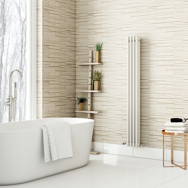 Fine Decor ceramica slate tile cream wallpaper