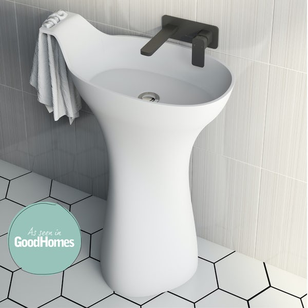Mode Barocci solid surface freestanding basin