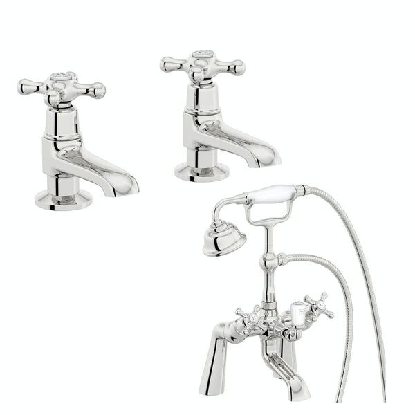 The Bath Co. Camberley basin pillar and bath shower mixer tap pack