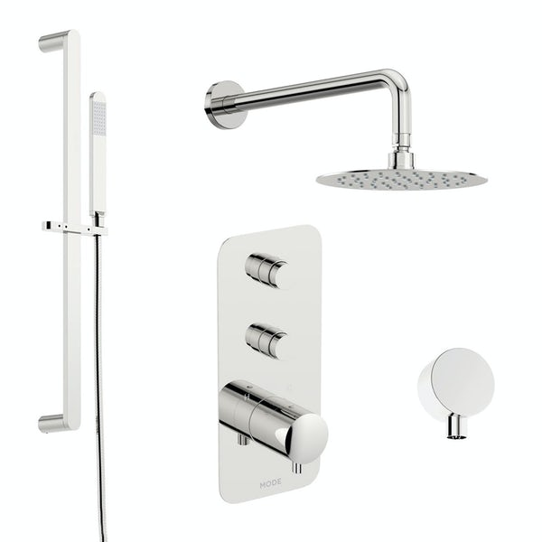 Mode Foster thermostatic push button shower set with wall arm and slider kit