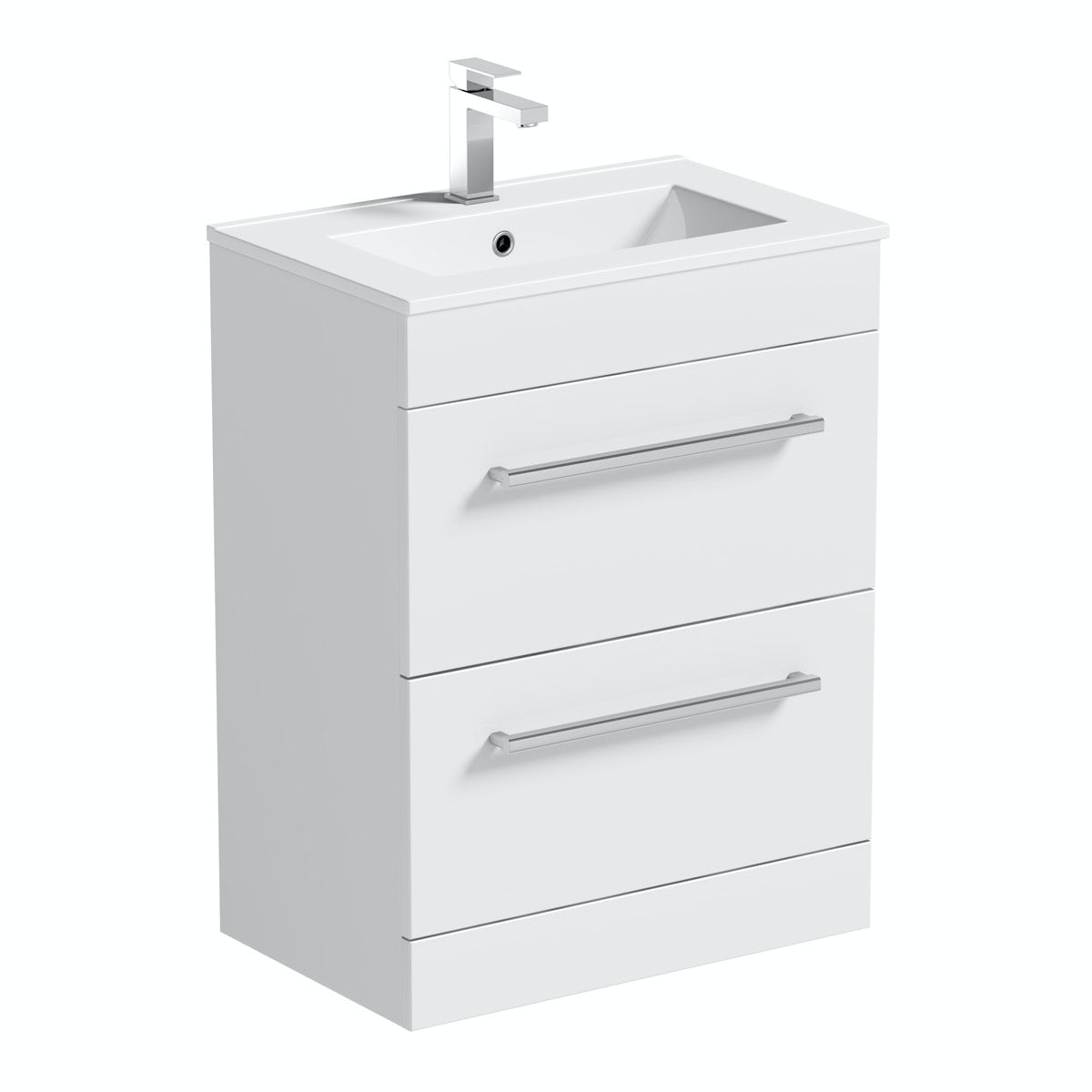 Derwent vanity drawer unit and basin 600mm