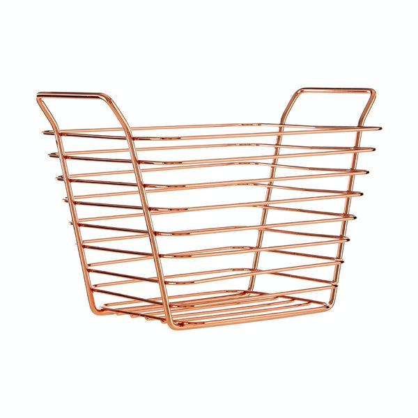 Rose gold small wire storage basket