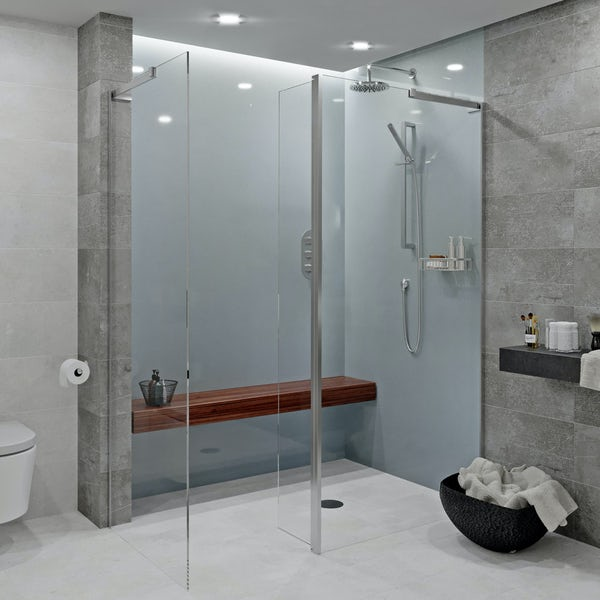 Showerwall Acrylic Gunmetal shower wall panel