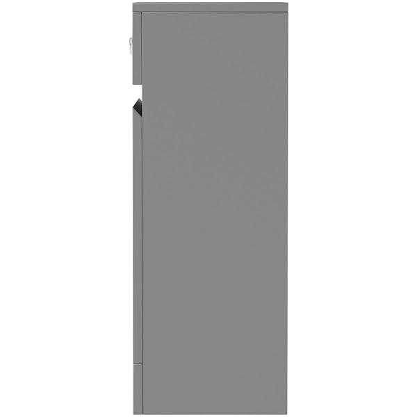 Mode Hardy slate matt grey back to wall toilet unit 500mm