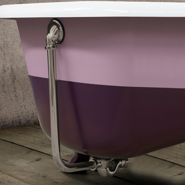 Traditoinal bath waste in nickel finish