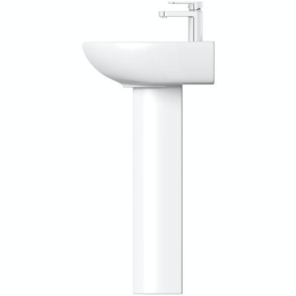 Orchard modern 1 tap hole full pedestal basin 550mm