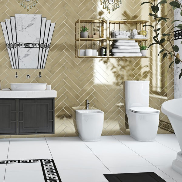 The Bath Co. Beaumont floor standing bidet with fixings