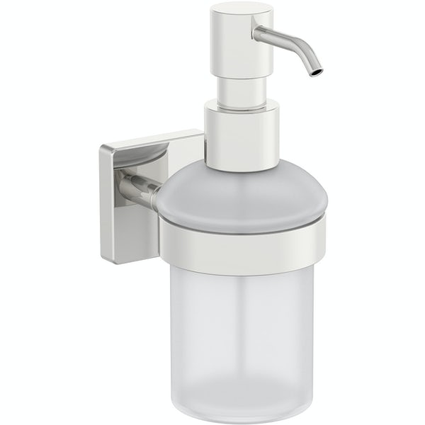 Accents square plate contemporary soap dispenser