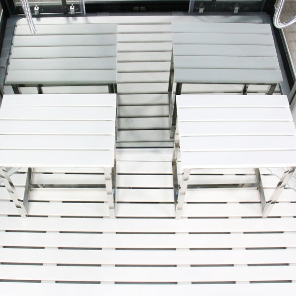 Insignia Platinum chrome framed rectangular twin shower cabin 1400 x 900
