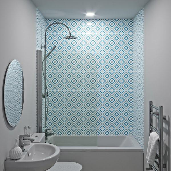 Showerwall Custom Diamond acrylic shower wall panel