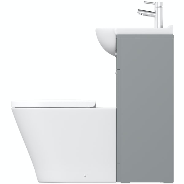 Orchard Elsdon stone grey 1060mm combination with contemporary back to wall toilet and seat