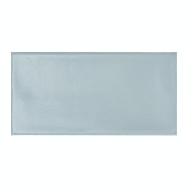 Annecy sky blue matt wall tile 75mm x 150mm