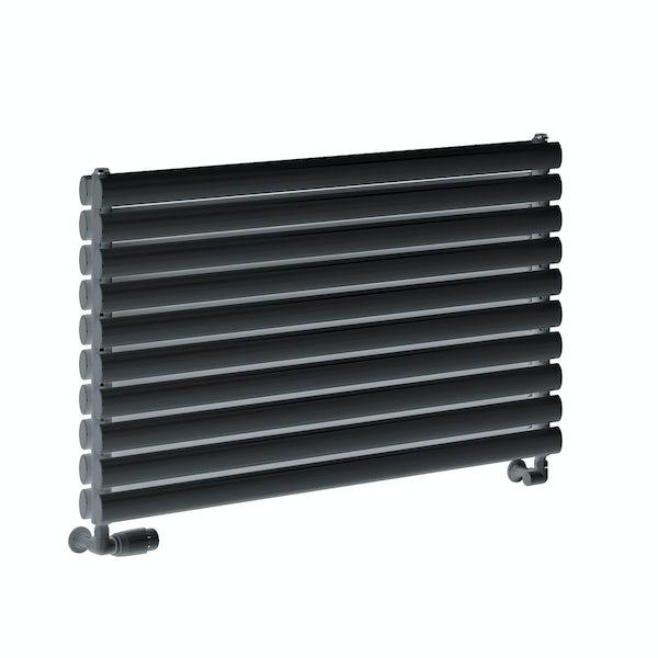 Reina Roda anthracite grey double steel designer radiator