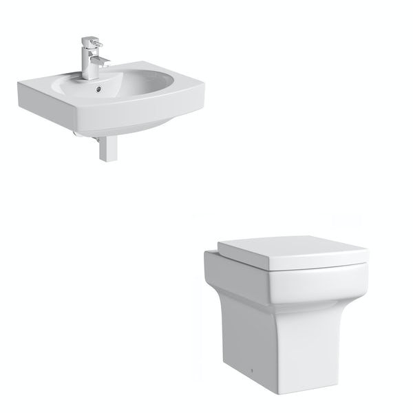 Wye Back To Wall Toilet and Wall Hung Basin
