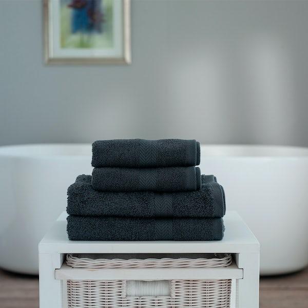 Deyongs Kingston 450gsm 4 piece towel bale dark grey