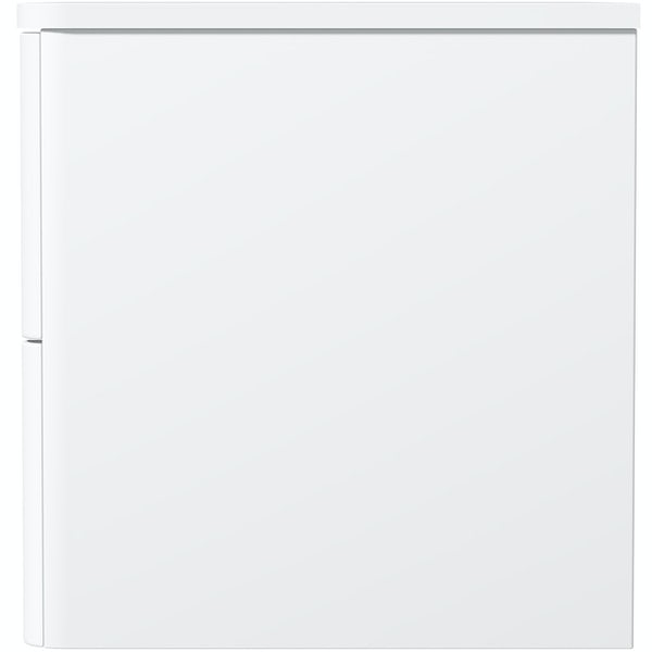 Mode Adler white 800mm wall hung vanity unit and countertop