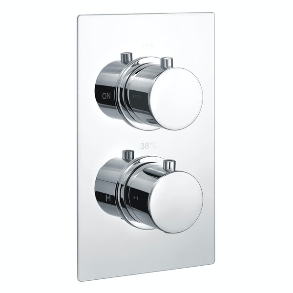 Kirke Curve twin thermostatic shower valve