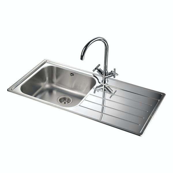 Rangemaster Oakland 1.0 bowl right handed kitchen sink