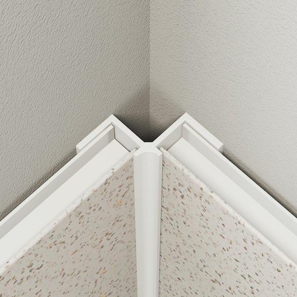 Multipanel Economy type V white internal corner profile