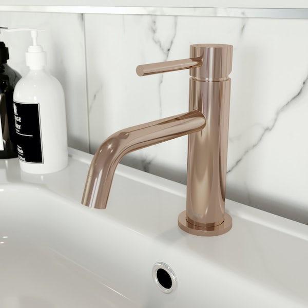 Mode Spencer round rose gold basin mixer tap