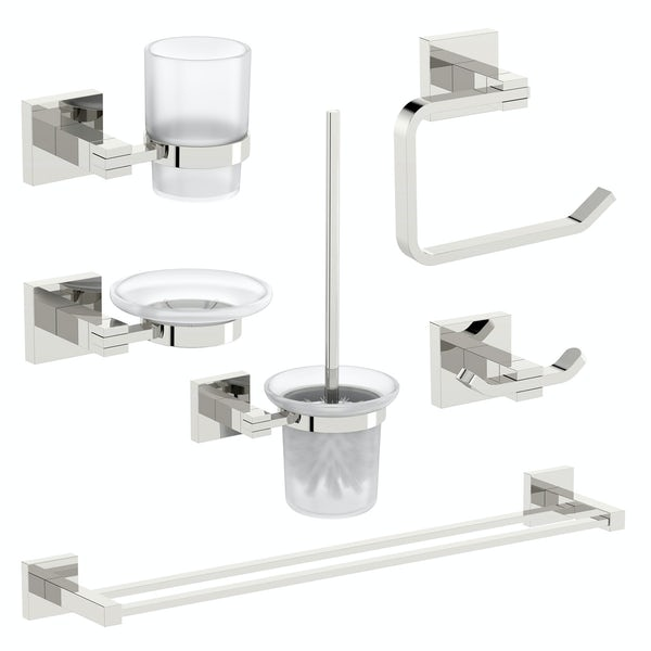 Orchard Wye square master bathroom 6 piece accessory set