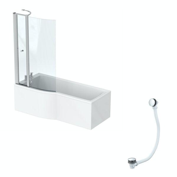 Ideal Standard Concept Air Idealform left hand shower bath 1700 x 800 with free bath waste