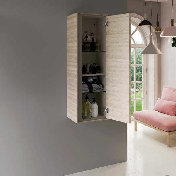 Ideal Standard Concept Air small wood light brown wall cabinet